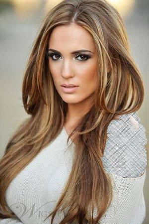 مدل مو زنانه همراه با رنگ مو قهوه ای