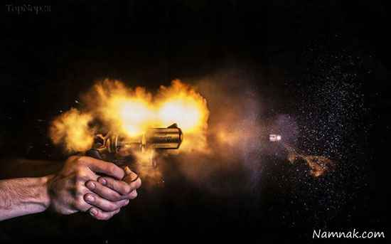 عکسهایی جالب از مراحل شلیک گلوله!