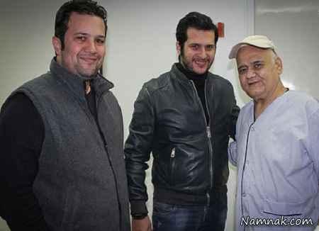 سیاوش خیرابی در کنار اکبر عبدی