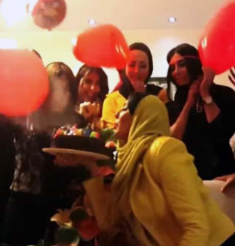 عکس های جالب جشن تولد لیلا بلوکات در کنار دوستانش