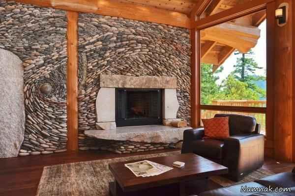 تزیین نمای بیرون و داخلی خانه با سنگ