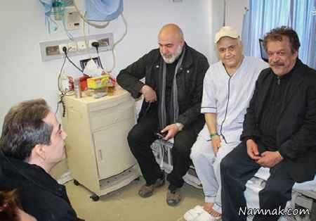 حسن پورشیرازی و رامسین کبریتی در کنار اکبر عبدی