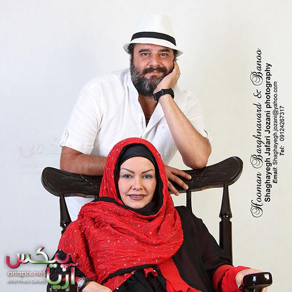 هومن برق نورد و همسرش+ عکس