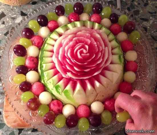 تزیین هندوانه و میوه شب یلدا