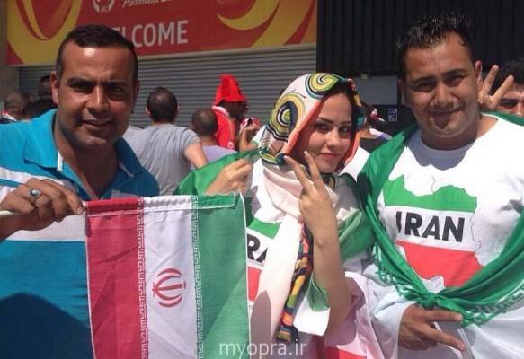 ضرب و شتم هواداری که در بازی عراق - کره، پرچم ایران را تکان می داد/عکس