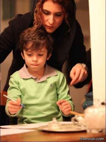 عکس ویشکا آسایش و پسرش
