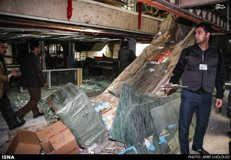 دو طبقه پاساژ علاءالدین تخریب شد + تصاویر