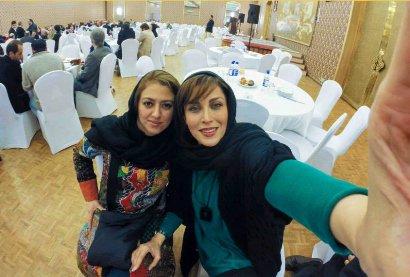 ضیافت شام بازیگران قبل از اختتامیه جشنواره و سلفی های جمعی شان !
