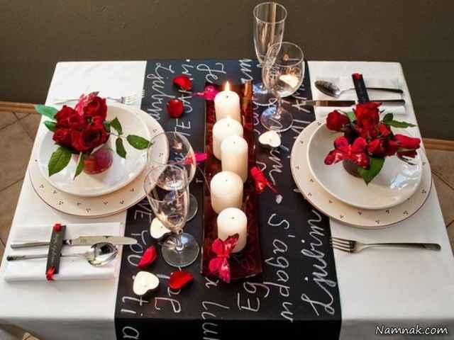 تزیین میز ولنتاین با ایده هایی رومانتیک