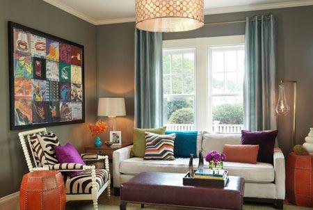 دکوراسیون زیبا و چیدمان منزل به رنگ طوسی