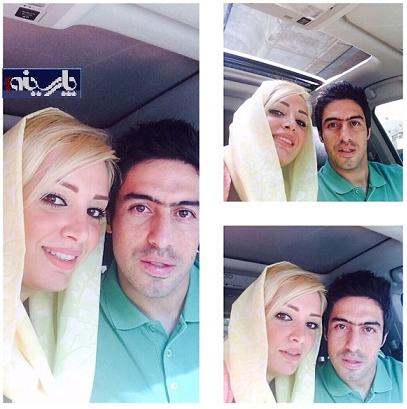خسرو حیدری در کنار همسرش /عکس