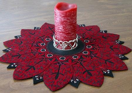 نمونه هایی از رومیزی های نمدی, کارهای هنری با نمد