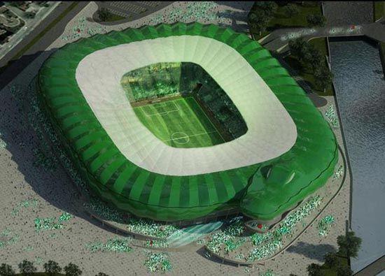 ساخت ورزشگاهی به شکل یک تمساح