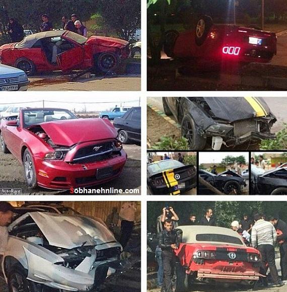 تصادف خودروهای میلیاردی /عکس