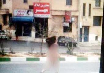 جزئیات قدم زدن دختر لخت در یکی از خیابانهای شیراز