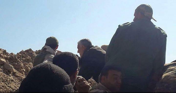 (تصاویر) سردار سلیمانی در الانبار
