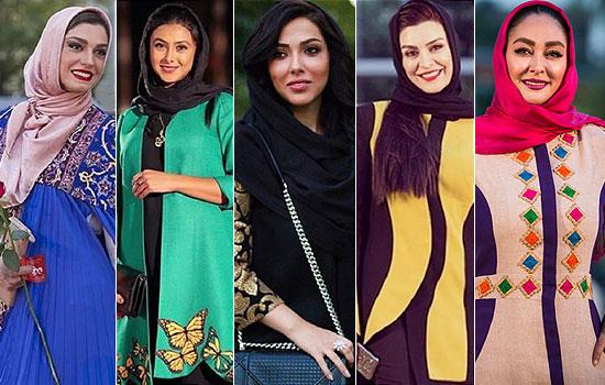 لباس و تیپ جالب بازیگران و همسرانشان در جشن سینمایی حافظ