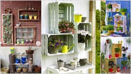 ایده های خلاقانه و زیبا برای جا گلدانی