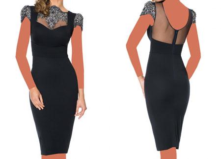 مدل لباس کوتاه با حریر و گیپور, مدل لباس مجلسی کوتاه