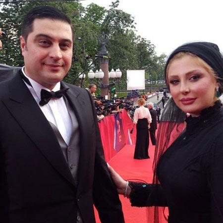 نیوشا ضیغمی و همسرش در فستیوال فیلم مسکو