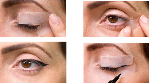 آموزش تصویری کشیدن خط چشم با چسب کاغذی+عکس