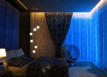 دکوراسیون نور پردازی اتاق خواب,نورپردازی اتاق خواب,مدلهای نور پردازی
