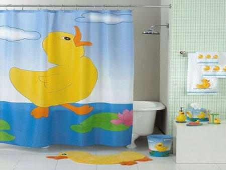 زیباترین مدل پرده های حمام بچه گانه ۲۰۱۵