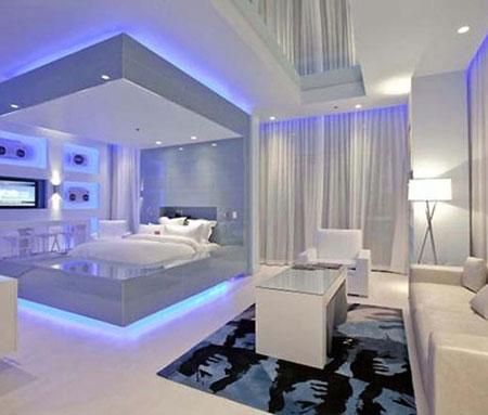 انواع نورپردازی اتاق خواب,مدلهای نورپردازی اتاق خواب,نورپردازی اتاق خواب