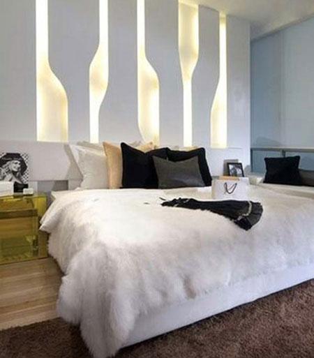 عکس نور پردازی اتاق خواب,مدلهای نور پردازی اتاق خواب,نور پردازی زیبای اتاق خواب