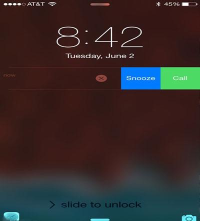 پلیکیشن یادآور اپل, اعلان های تعاملی