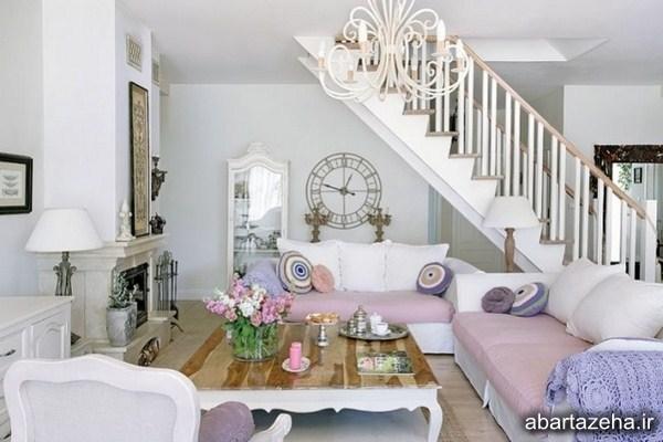 ایده های عالی برای طراحی اتاق نشیمن شیک و رمانتیک