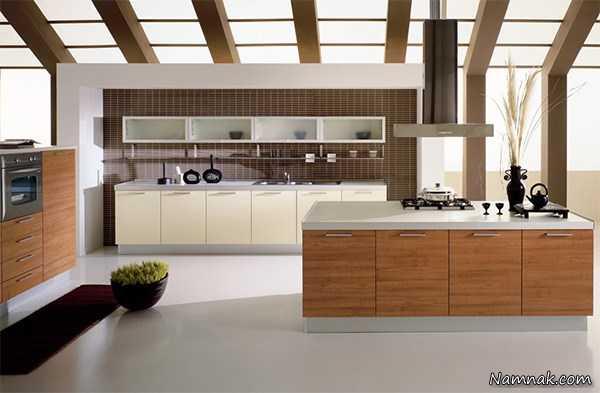 کابینت و دکوراسیون مدرن ، کابینت آشپزخانه های کوچک آپارتمانی ، دکوراسیون آشپزخانه