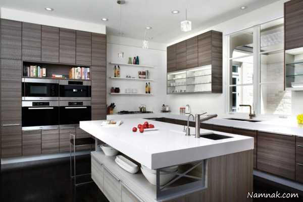 مدل کابینت آشپزخانه مدرن ، کابینت آشپزخانه کوچک عکس ، کابینت آشپزخانه های کوچک آپارتمانی