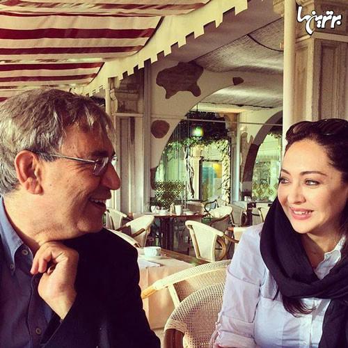 عکس: نیکی کریمی در کنار «اورهان پاموک»