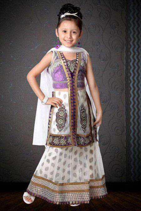 لباس هندی دختر بچه ها,لباس مجلسی هندی