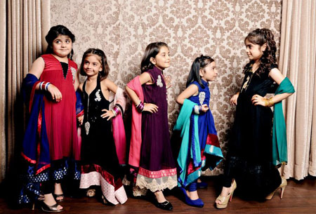 لباس مجلسی هندی, لباس مجلسی هندی دخترانه
