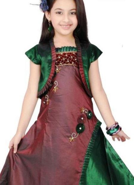 پیراهن دخترانه هندی,جدیدترین مدل لباس دخترانه