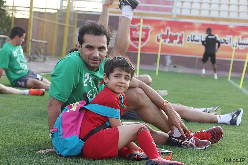 پسر هادی نوروزی در تمرین پرسپولیس / عکس