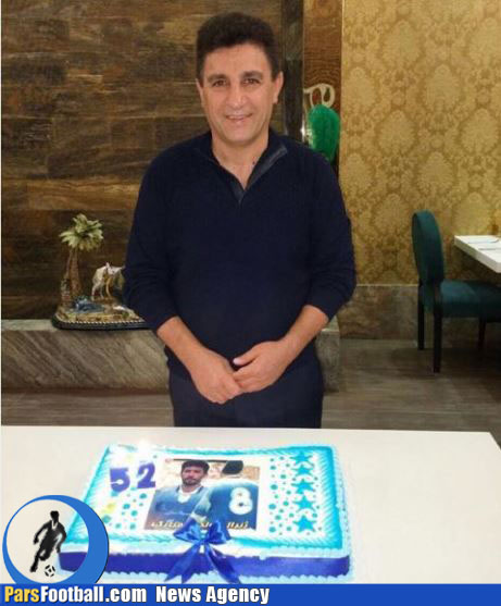 کیک تولد فوق العاده امیر قلعه نوعی + عکس