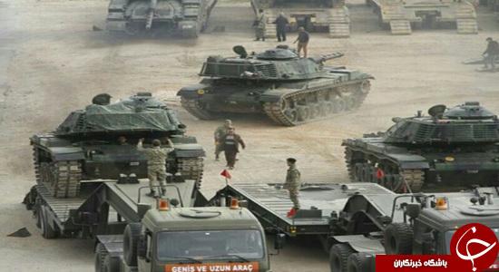 استقرار تانکهای ارتش ترکیه در مرز سوریه /تصاویر