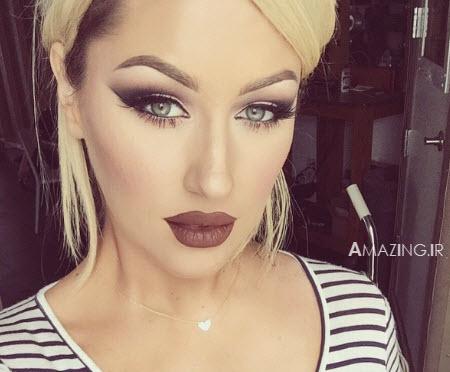 سایه چشم 2015 ,آرایش صورت 2015 , میکاپ صورت زنانه 2015 , مدل آرایش chrisspy
