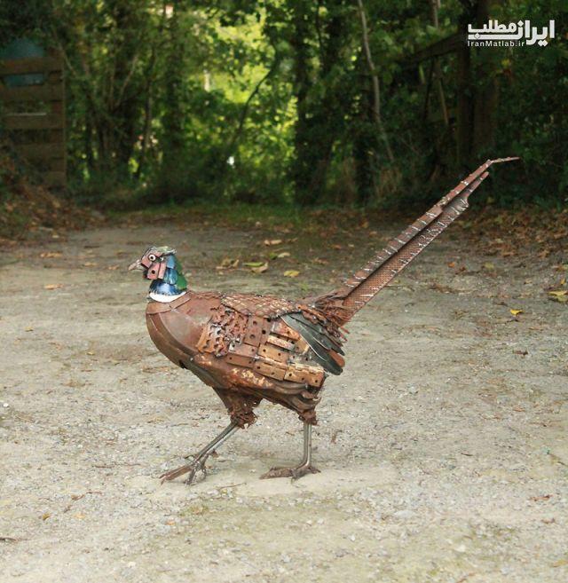 ساخت حیوانات ضایعات فلزی عکس حیوانات
