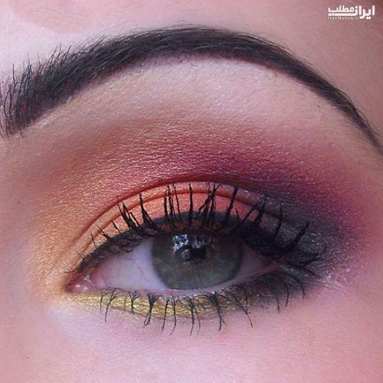 آرایش چشم زیبا به همراه آموزش + عکس