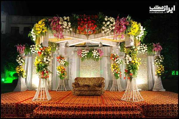 تزیین جایگاه عروس و داماد + عکس جایگاه عروس و داماد جدید ۱۳۹۷