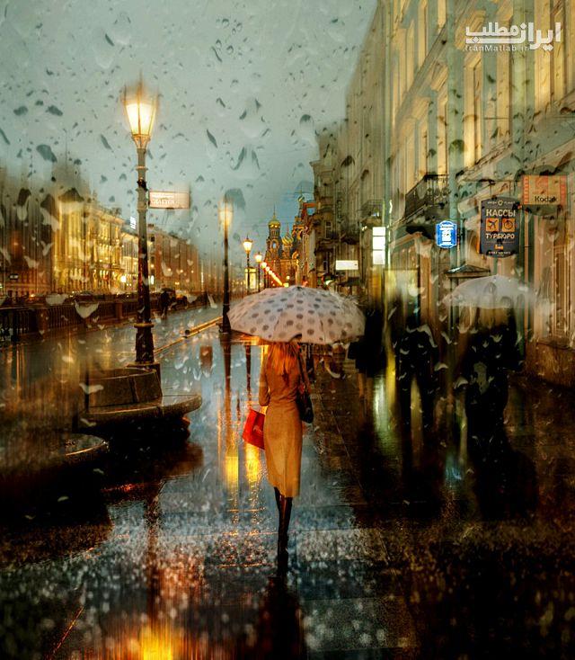 عکس های بارانی نقاشی رنگ روغن عکس نقاشی