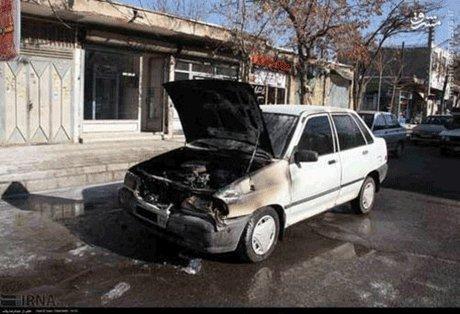 انفجار مهیب یک پراید در زنجان! +تصاویر