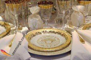 تزیین میز ناهارخوری کریسمس با کلکسیون خاص و منحصر به فرد ورساچه