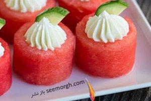 تزیین خاص و متفاوت هندوانه برای شب یلدا