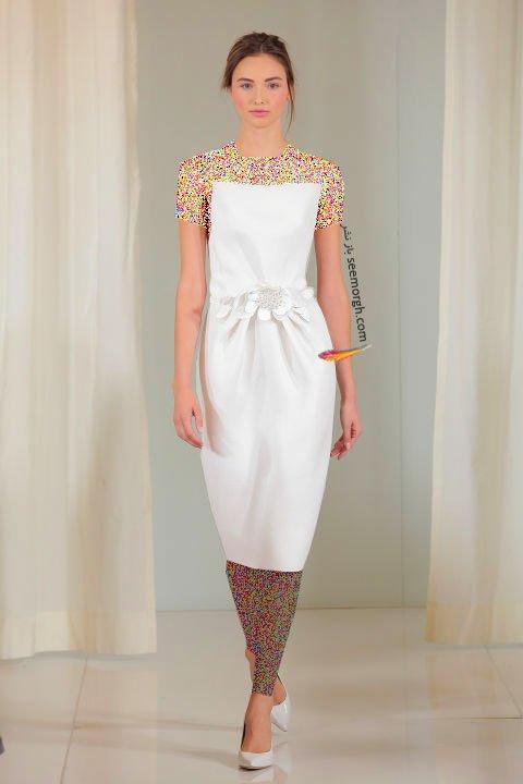 لباس عروس کوتاه در هفته مد لندن - مدل شماره 1