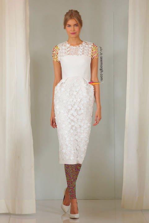لباس عروس کوتاه در هفته مد لندن - مدل شماره 2
